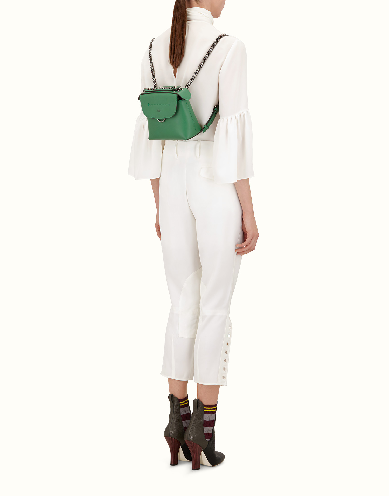 c1dc73d626 Mini backpack in green leather - MINI BACK TO SCHOOL BACKPACK ...