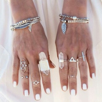 jewels gem gems gem stones natural boho hippie ring midi beach wedding