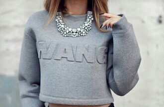 blouse wang sweater pretty grey amazing grey sweater want love cute