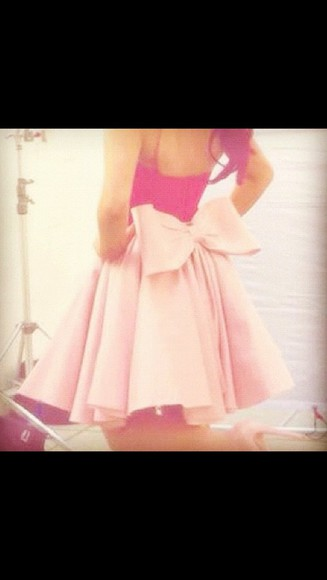 dress bow pretty girl summer girly shoes pink skirt love pink happy beautiful pink skirt pink bow skirt prettiest