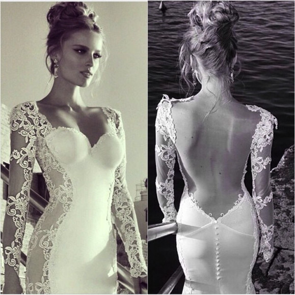 buttons lace dress backless formal dress prom dress urgently want it prom dresses /graduation dress .party dress white built in cups elegant exactly like this  similar to the photo shown fitted dress