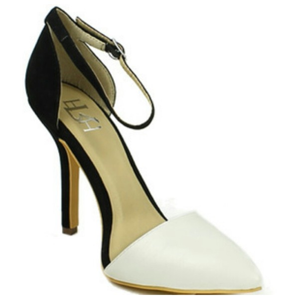 shoes high heels black and white appealingboutique