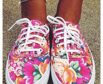 shoes tropical hawaii pink vans floral