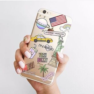 phone cover yeah bunny iphone iphone cover cute america american flag new york city