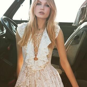 dress the jetset diaries boho dress white lace revolve clothing revolveme revolve