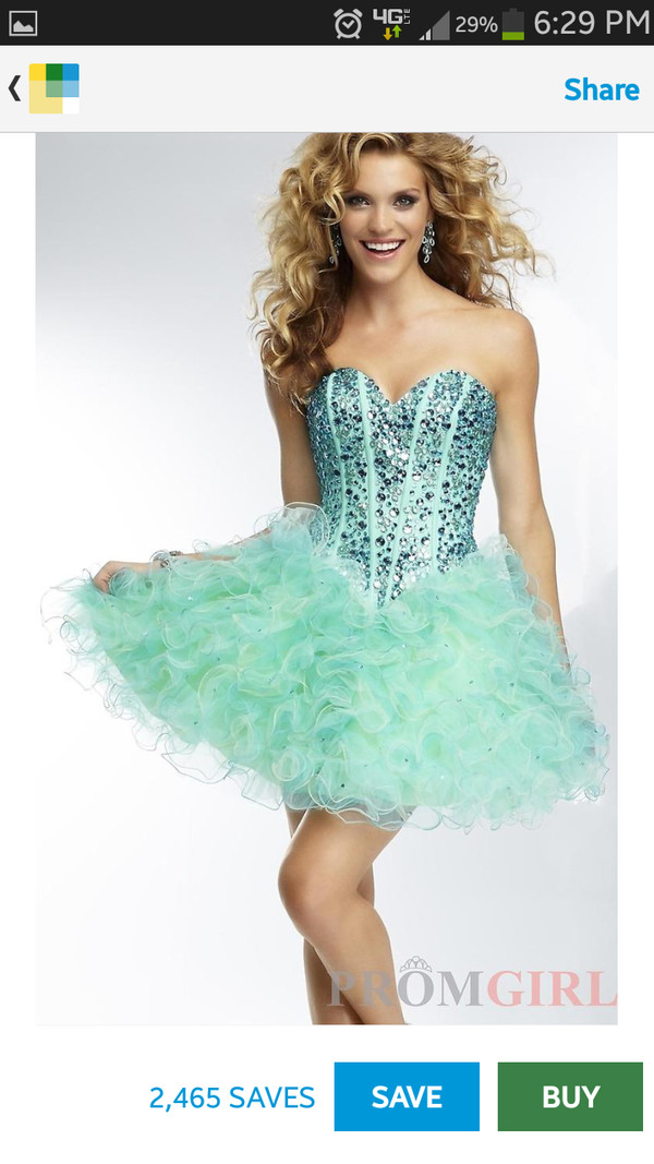 dress greenish blue prom dress short dress i love this!