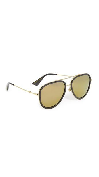 gucci urban sunglasses aviator sunglasses gold