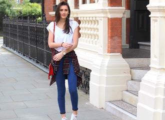 peexo blogger t-shirt shirt jeans bag