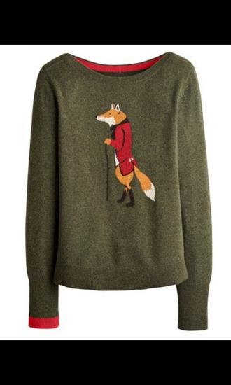 sweater fox khaki