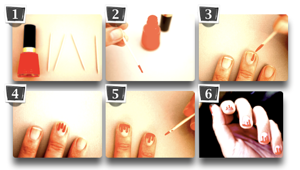 DIY Nail Art - Fire flame fluorescent colours  | The Ananasa Blog
