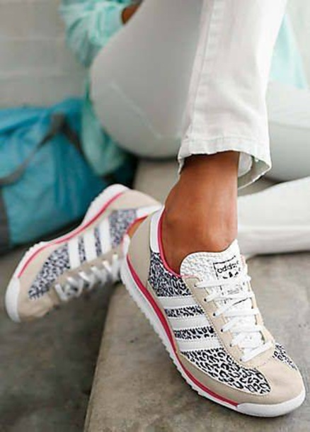 shoes women's sneakers adidas shoes leopard print adidas