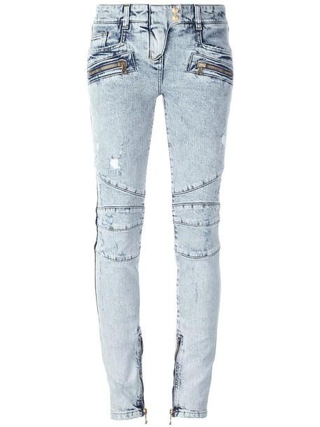 Balmain jeans women spandex cotton blue