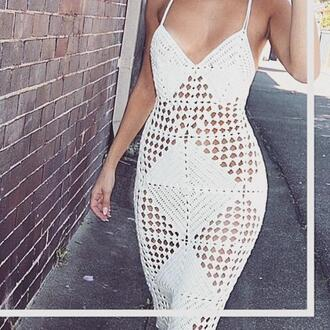 dress crochet maxi dress crochet dress hollow out dress sexy dress