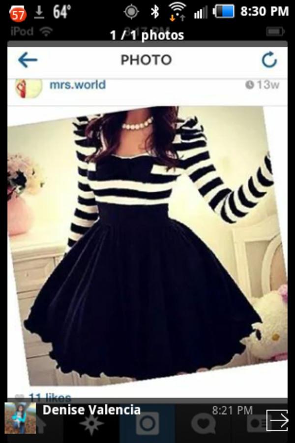 striped dress cute dress bow dress