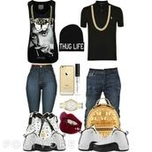 shirt,thug life,tupac top,tupac shirt,black tank top