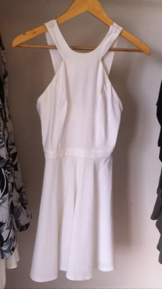 dress white dress asos size 8 perfect