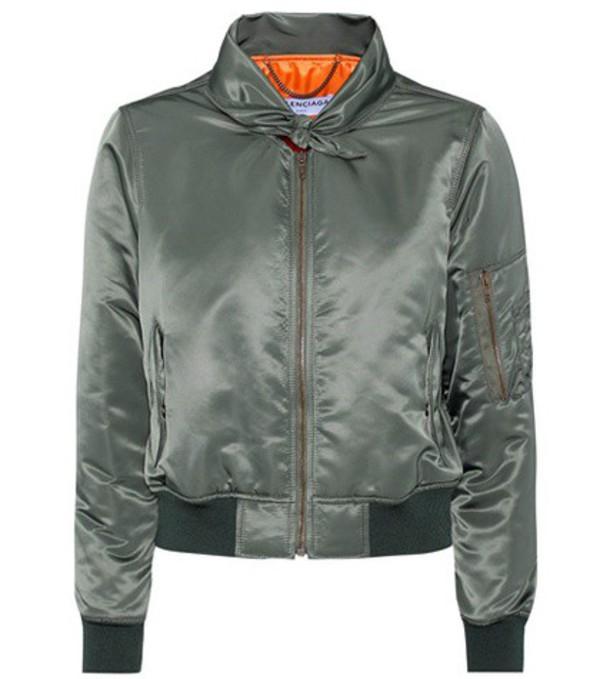 Balenciaga Bomber jacket in green