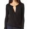 Ella moss bella long sleeve blouse - black