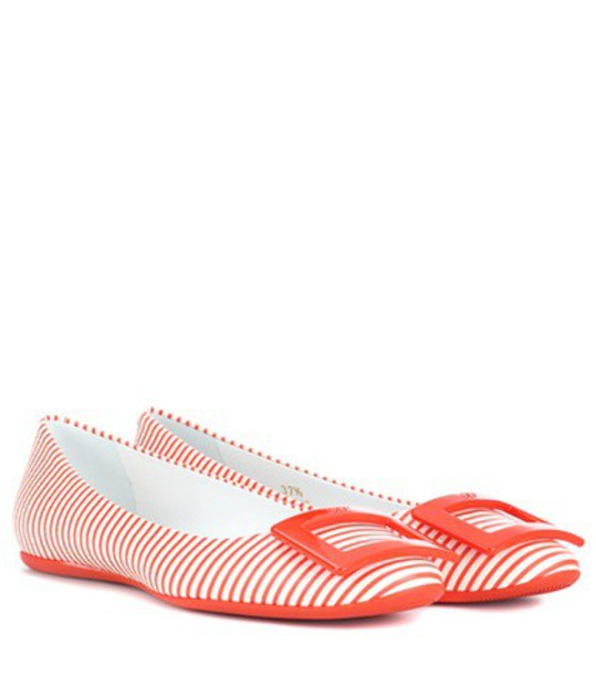 Roger Vivier leather red shoes