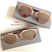 sunglasses,dior,rose gold