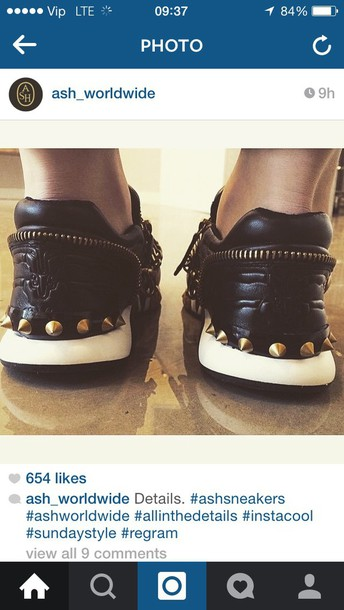shoes ash black