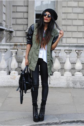 hipster boots grunge jacket jeans