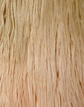 Pepe Jeans   Pepe Jeans Dip Dye Faux Fur Coat at ASOS