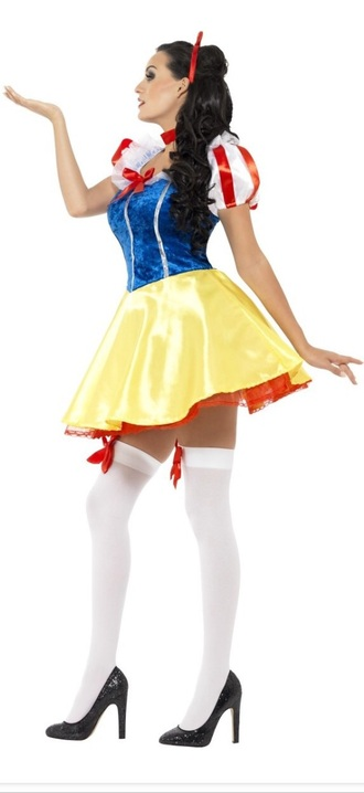 dress snow white halloween costume short stockings bow ribbon