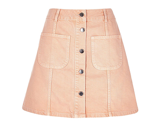 skirt spring button up denim skirt button up skirt denim skirt pink skirt