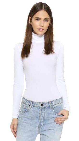 bodysuit white underwear