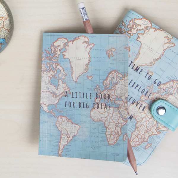 Vintage world map atlas mini notebook a little book for big ideas vintage world map atlas mini notebook a little book for big ideas travel gift gumiabroncs Image collections