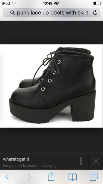 shoes black lace up boots