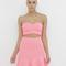 Petit ruffle crop top and matching skirt set in neon pink at flyjane