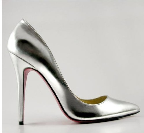 Metallic Silver High Heels | Tsaa Heel