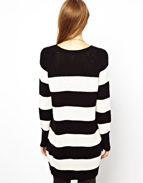 Monki | Monki Stripe Crew Neck Sweater at ASOS