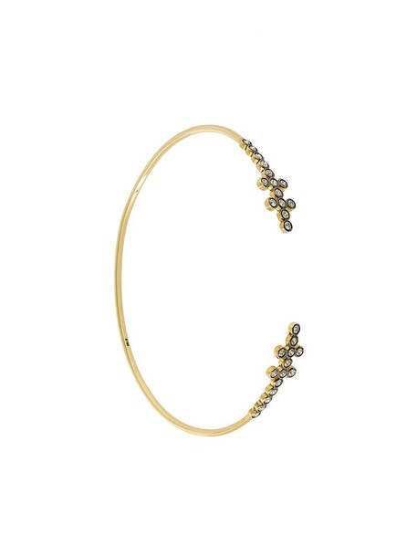 Yannis Sergakis cuff women gold yellow grey metallic jewels