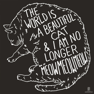 Topshelf Records — The World Is A Beautiful Place & I Am No Longer Afraid To Die - Cat 46x46 Inch Flag