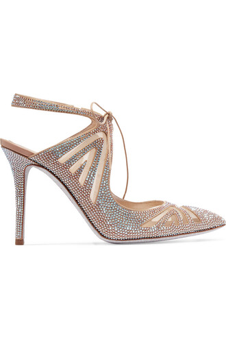 embellished pumps satin silver beige shoes
