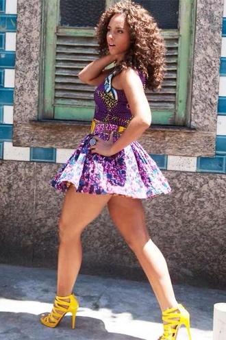 skirt alicia keys tank top dress