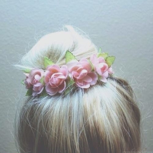 Vintage floral inspired bun cover for top knots by californiaboho