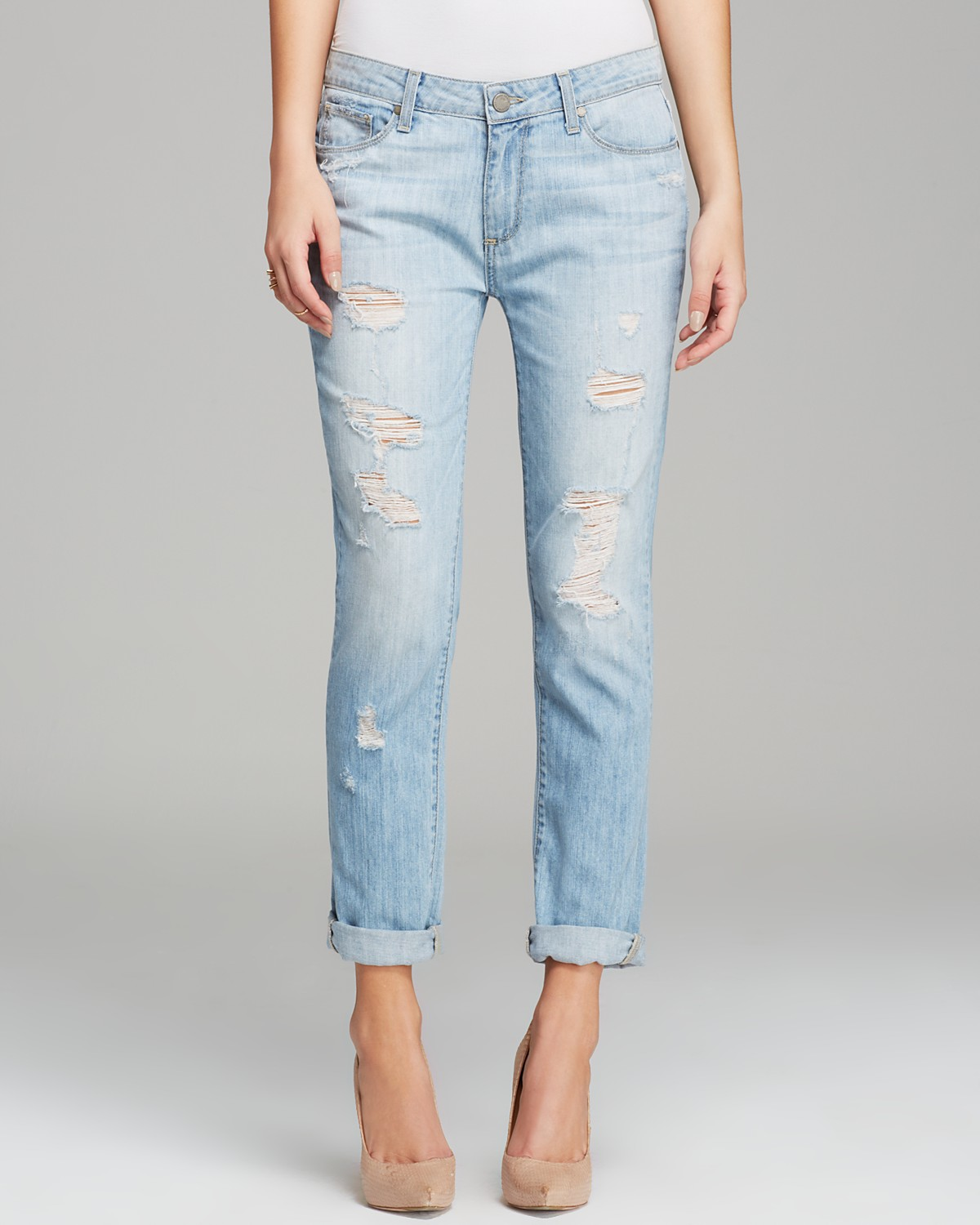 Paige Denim Jeans - Jimmy Jimmy Skinny Naomi Destructed | Bloomingdale's