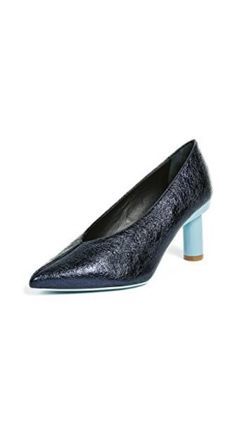Tibi pumps navy shoes