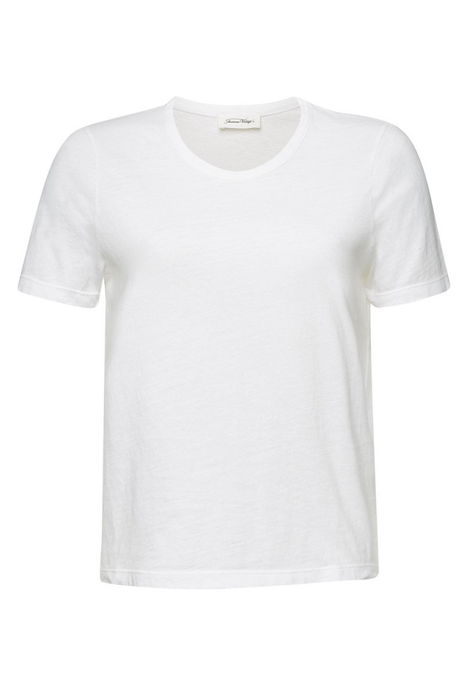American Vintage Cotton T-Shirt  in white