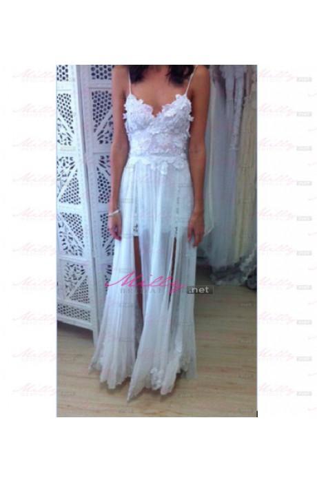 Line white formal dress at millybridal.net