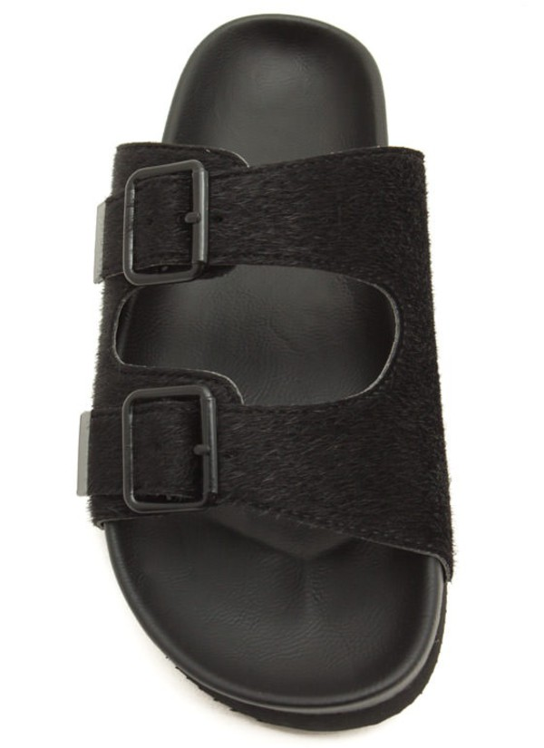shoes grey sandals black buckles