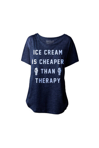 shirt black t-shirt ice cream therapy funny t-shirt candy