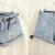 Fashion Womens Girls Vintage Denim High Waist Light Blue Jean Shorts Hot Pants | eBay