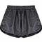 Black snakeskin print pu leather shorts - sheinside.com
