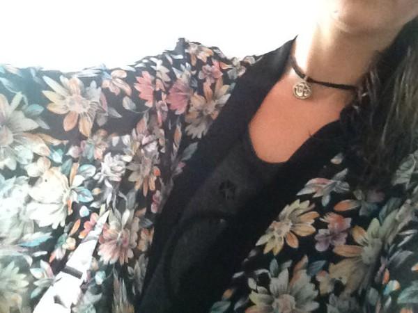 cardigan kimono floral