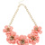 Coral Facet Flower Necklace | Pink | Oasis Stores